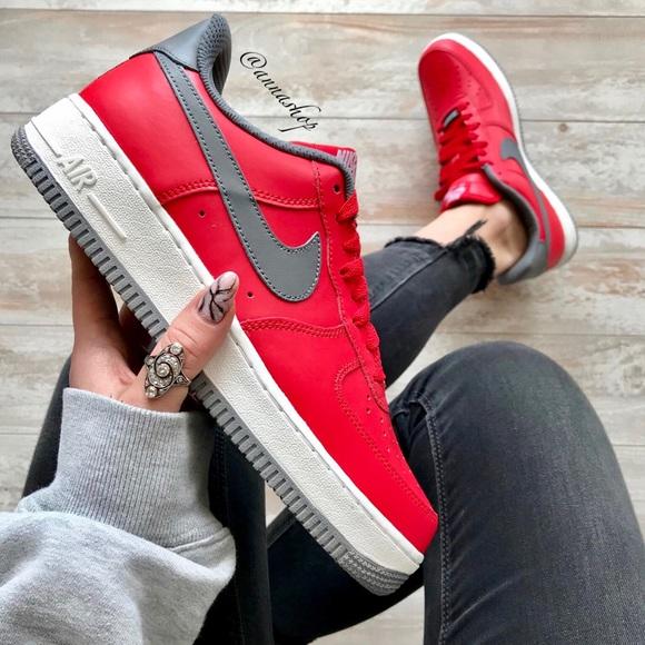 34f06baae3ff NWT Nike ID Air Force 1 Custom Red
